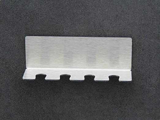 Made in Germany selbstklebend /& ohne Bohren FGE-Line 6er Zahnb/ürstenhalter aus Edelstahl