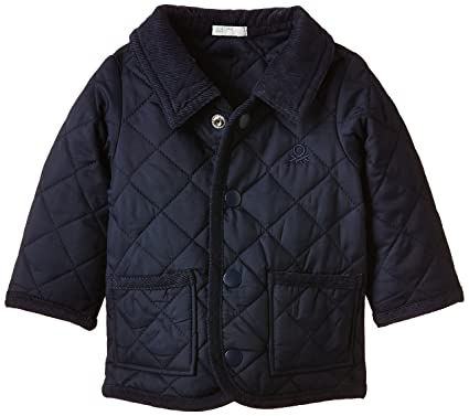 United Colors of Benetton Baby-Boys Quilted Coat, Blue (Navy), 3 ... : baby quilted jacket - Adamdwight.com