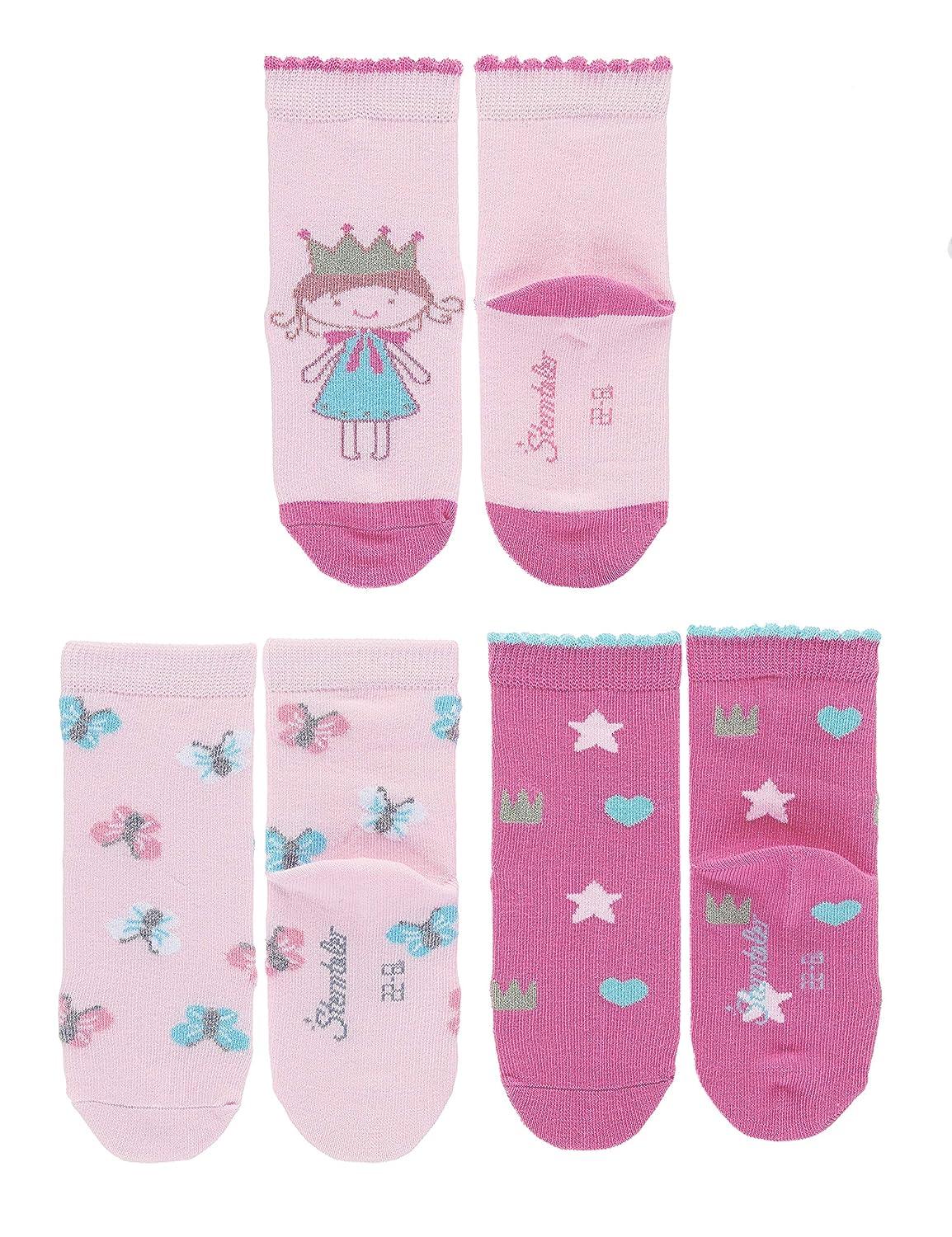 Motif princesse Pack de 3 /Âge: 6-12 Mois Sterntaler Chaussettes
