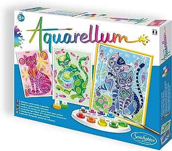 Sentosphere 6280 Aquarellum Katzen Juego Para Aprender A