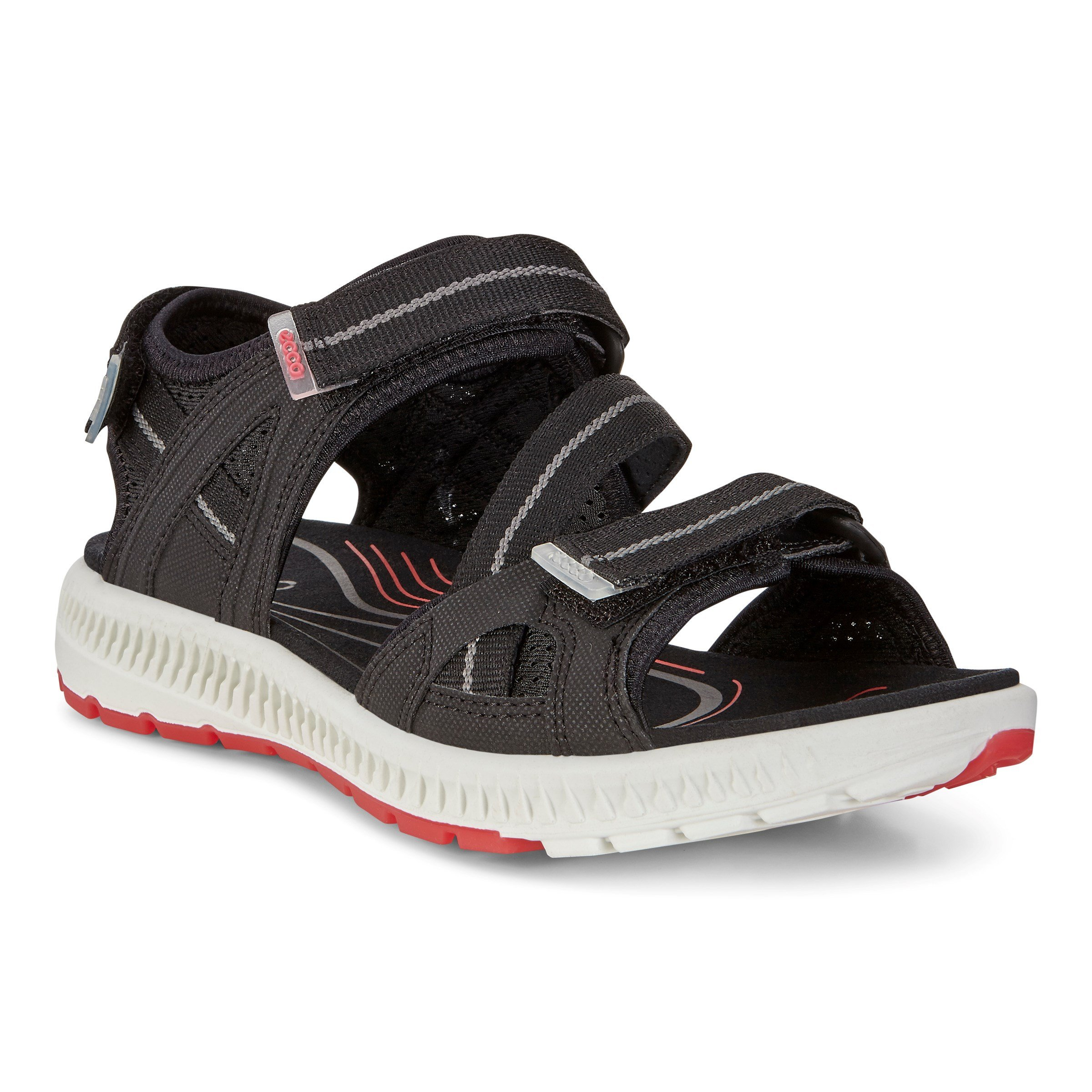 ECCO Women's Terra 3S Athletic Sandal, Black/Teaberry, 41 EU/10-10.5 M US