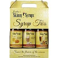 Skinny Syrup Holiday Trio Pumpkin Spice,, Peppermint Mocha
