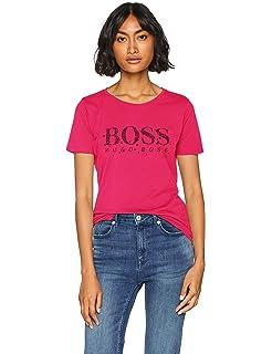 Damen T-Shirt Girl Boss Statement Spruch Quote Message Hashtag farbiger Kragen