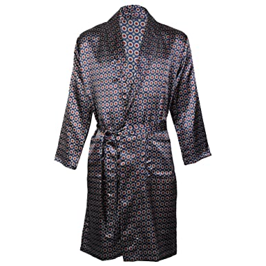 8e3d56972ca8 Octave® Mens Luxury Summer Printed Satin Kimono Wrap/Robe / Dressing Gown:  Amazon.co.uk: Clothing