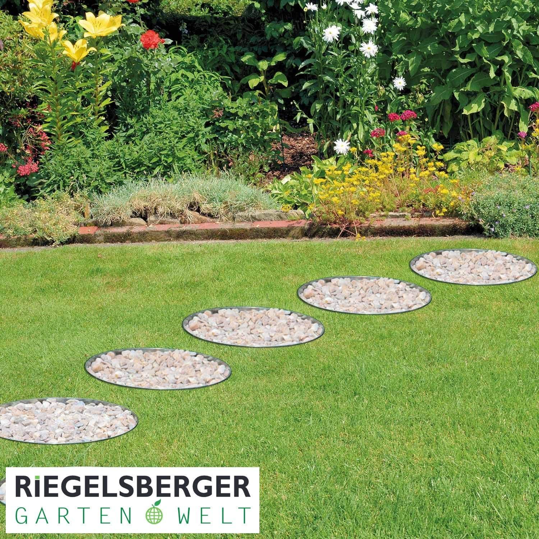 Gartenwelt Riegelsberger Premium Rasenkante Kreis /Ø 20 cm Beetumrandung Rasenbegrenzung Beeteinfassung