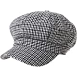 b22386b7970 WITHMOONS Wool Beret Cap Houndstooth Pattern Bakerboy Visor Hat KR3899