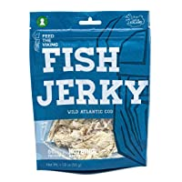 Fish Jerky | Wild Atlantic Cod | Nothing Added | Six-Pack (6 x 1.8oz) | Made and...