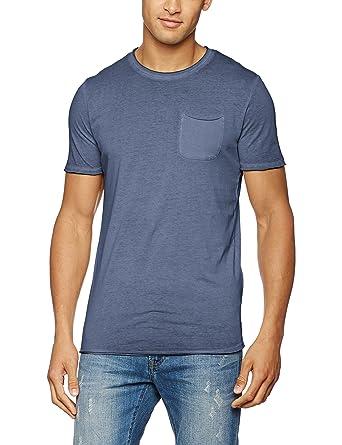 JACK & JONES VINTAGE Herren T-Shirt Jjvjack SS Tee Crew Neck Noos, Blau