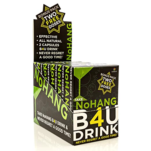 NoHang Liver Detox Supplement & Hangover Pill – Supports Liver Health & Function – All-Natural, Gluten Free, Vegan/Vegetarian & Non-GMO - Premium Quality Liver Cleanse Formula – 6 x 12 Capsule Packs