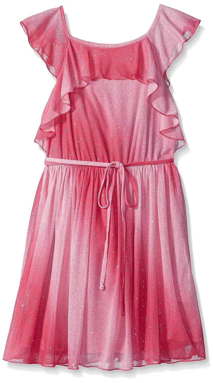 Emerald Sundae Girls Flutter Flutter Sleeve in Rose/Pink Ombre ...