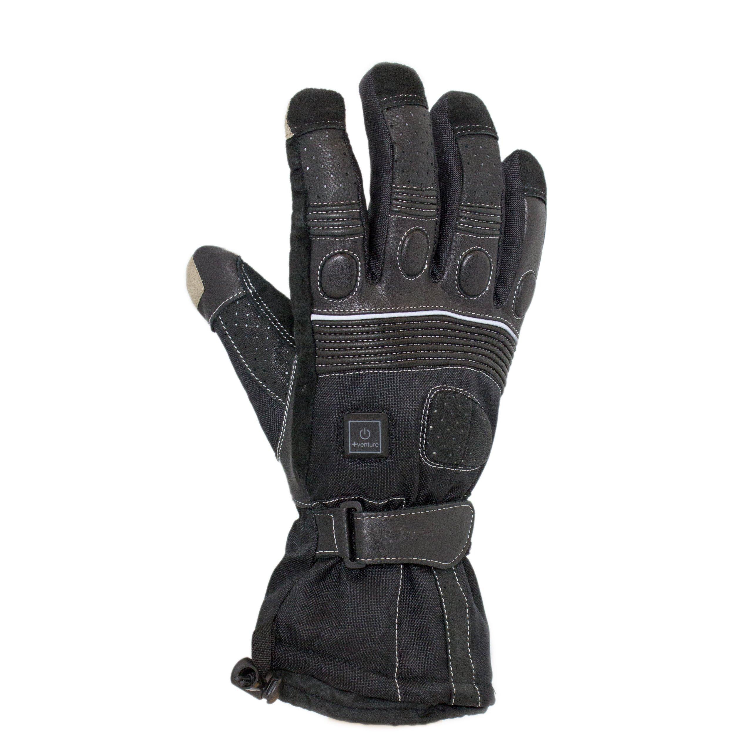 VentureHeat 12V Heated Grand Touring Motorcycle Gloves (Black, Medium)