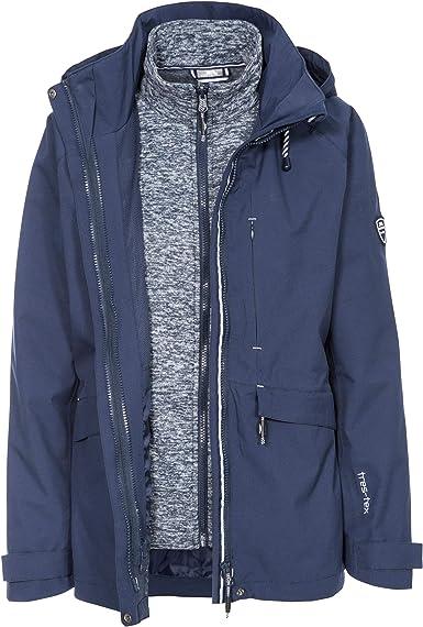 Femme Trespass Offshore Veste de pluie imperm/éable avec capuche dissimul/ée