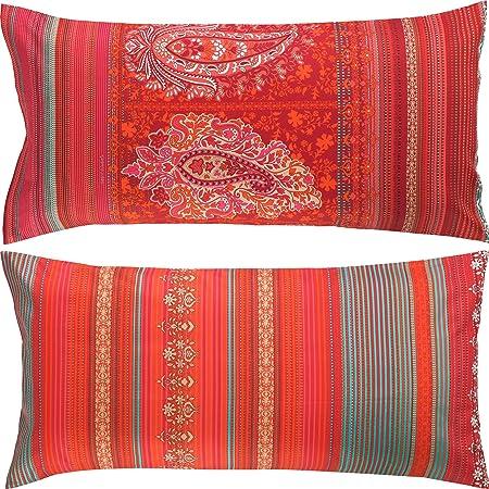 Bassetti - Funda de cojín, algodón, Rojo, 40 x 80 cm: Bassetti: Amazon.es: Hogar
