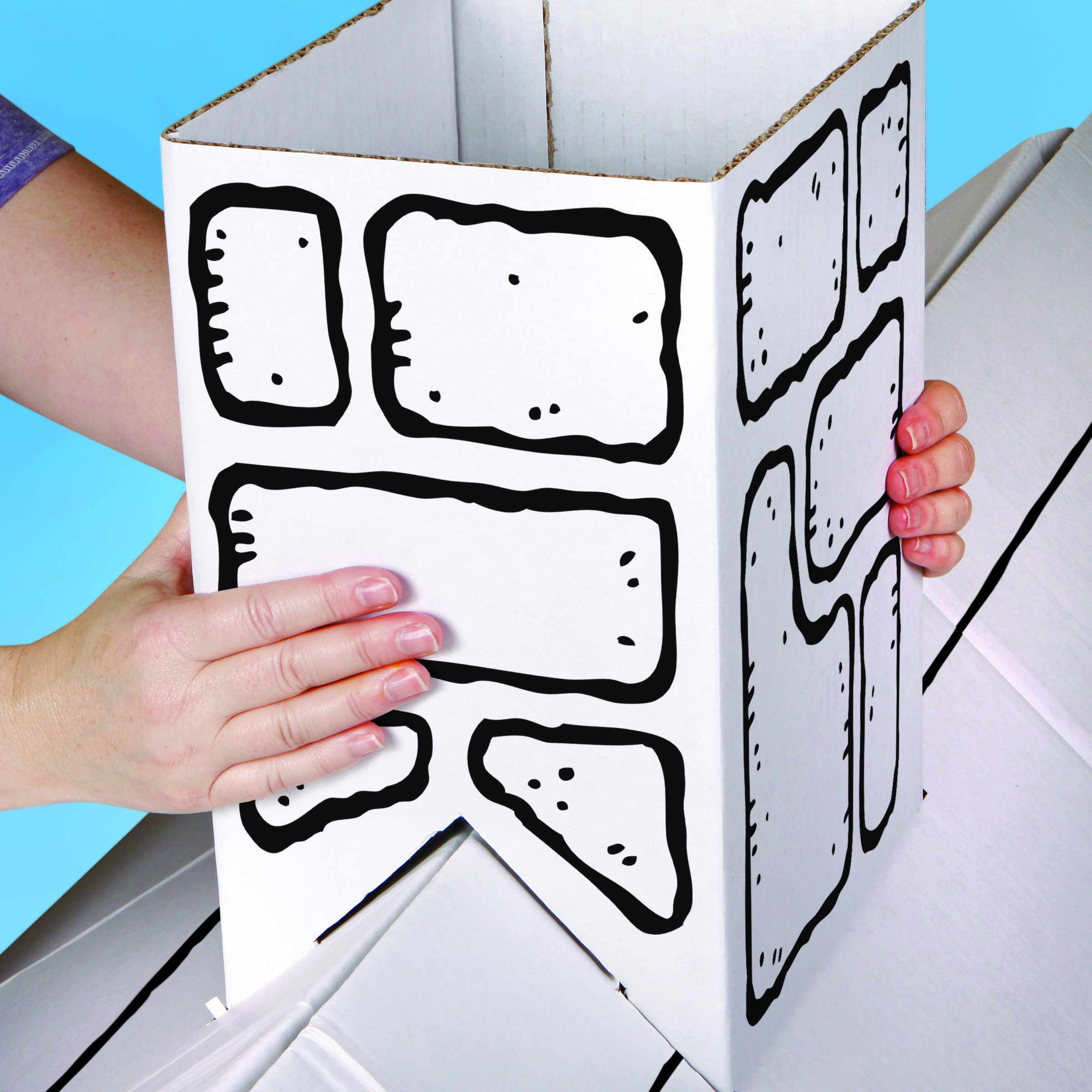 Discovery Kids Cardboard Color and Play Play House by Discovery Kids (Image #4)