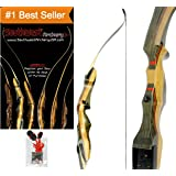 Spyder Takedown Recurve Bow and arrow by Southwest Archery USA | weights 20 25 30 35 40 45 50 55 60 lb | LEFT or RIGHT HANDED Archery Kit | Designed by Engineers of the Samick Sage |