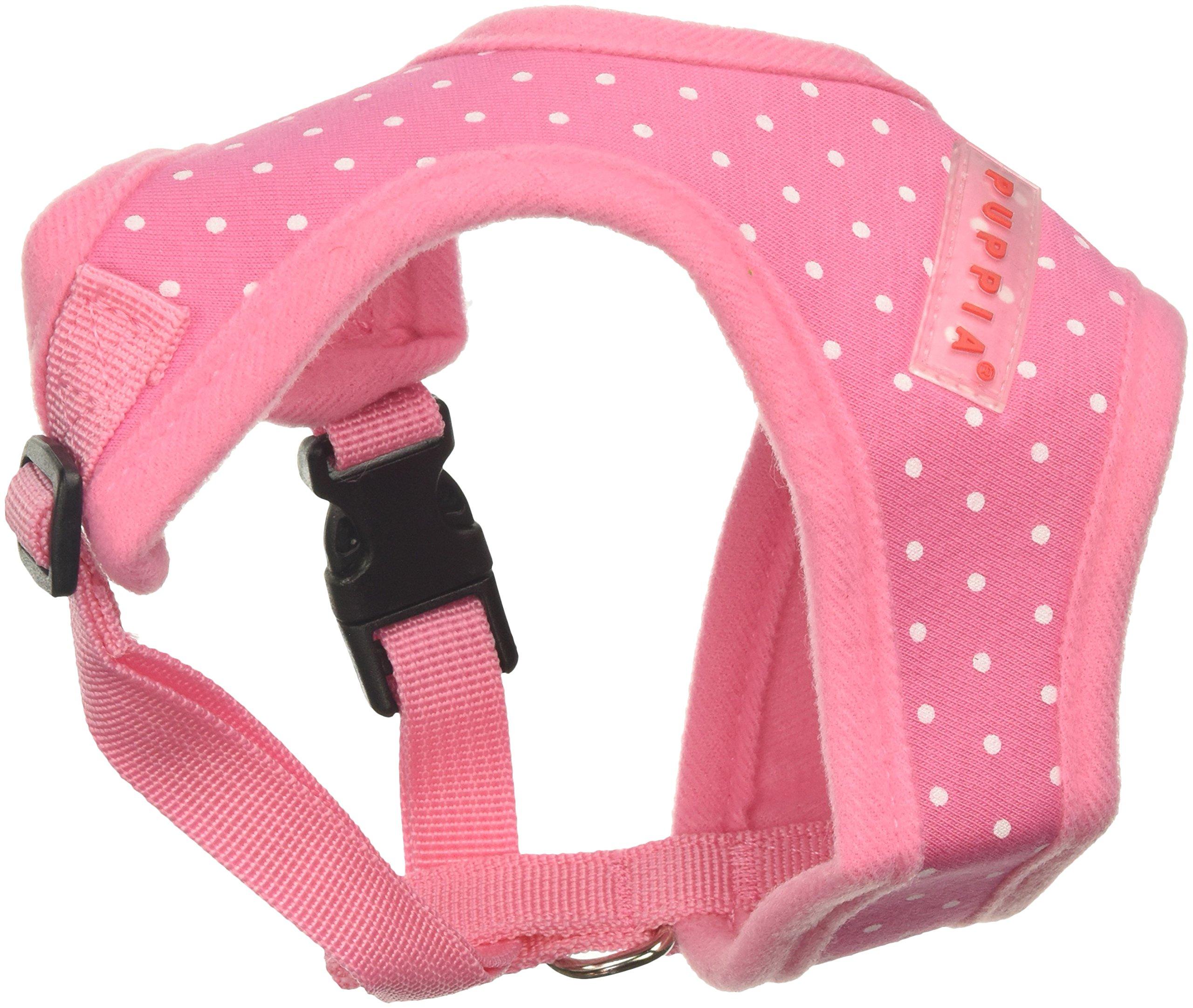 Puppia Dotty Harness A, Small, Pink