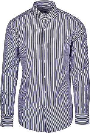 Hugo Boss Jason - Camisa clásica a rayas, color azul marino: Amazon.es: Ropa y accesorios
