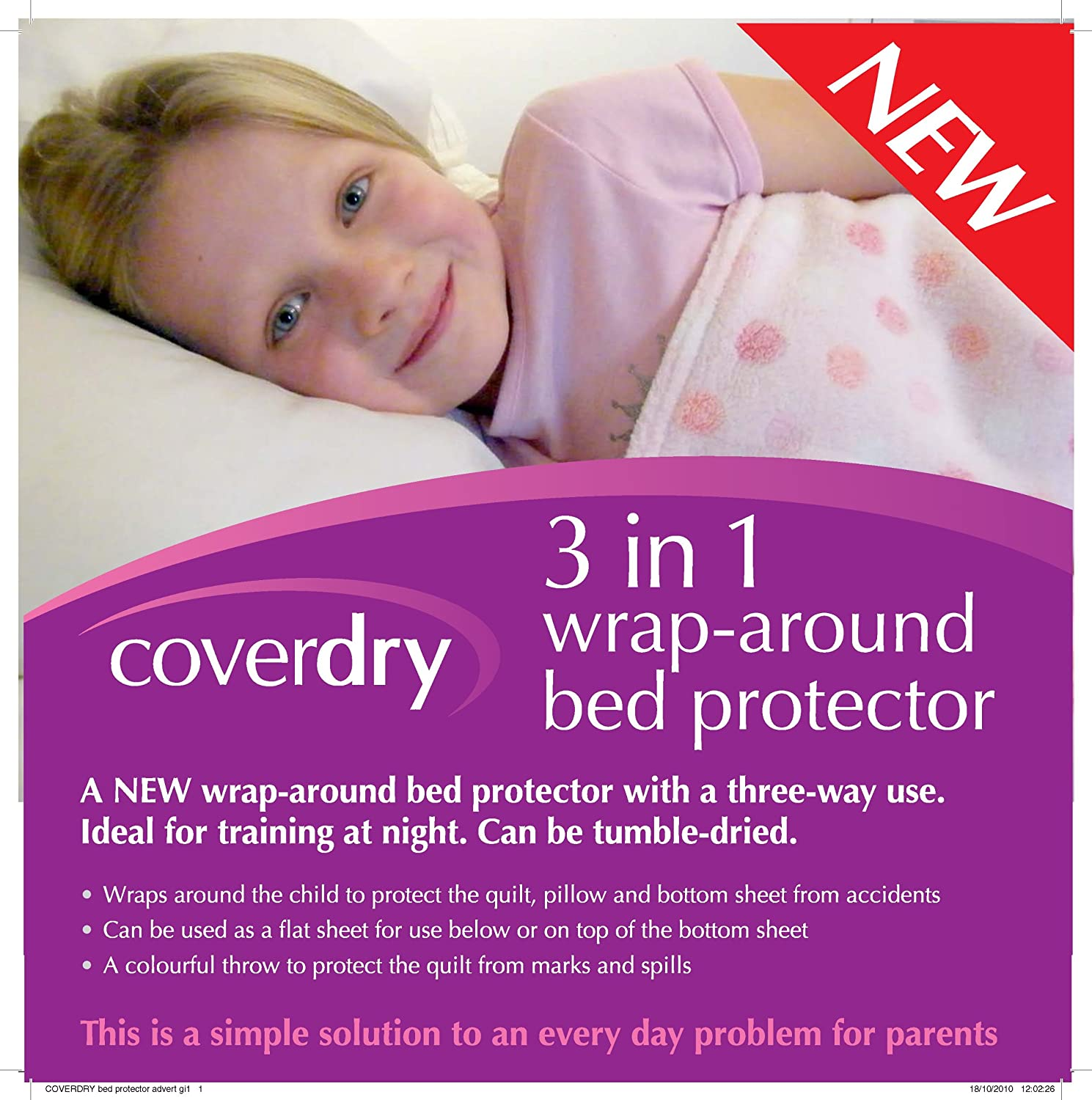 Coverdry Girls Wrap Around Bed Protector COV005