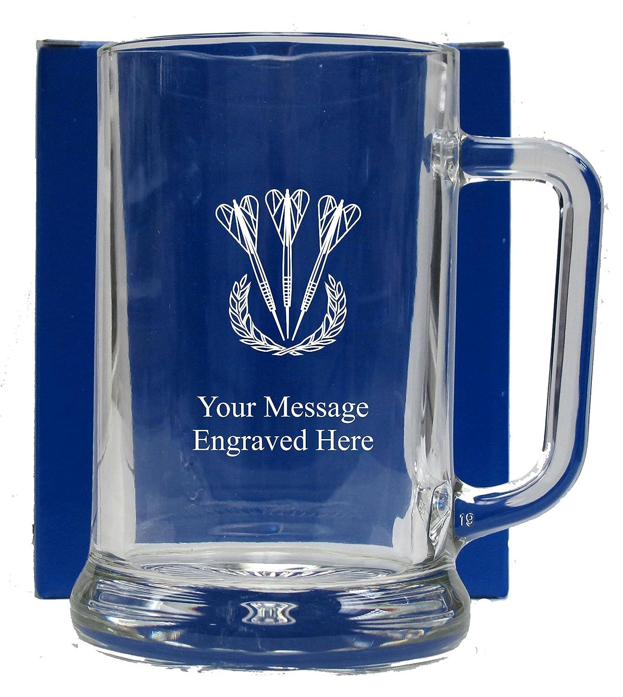 ENGRAVED DARTS PINT GLASS TANKARD GT24 1stclassgifts.co.uk