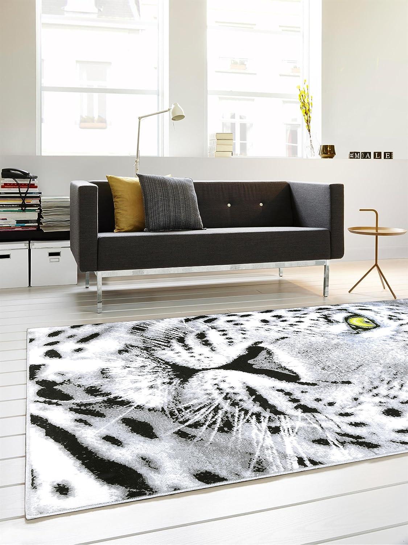 Tappeto moderno per soggiorno grigio beige bianco a onde for Tappeto moderno soggiorno