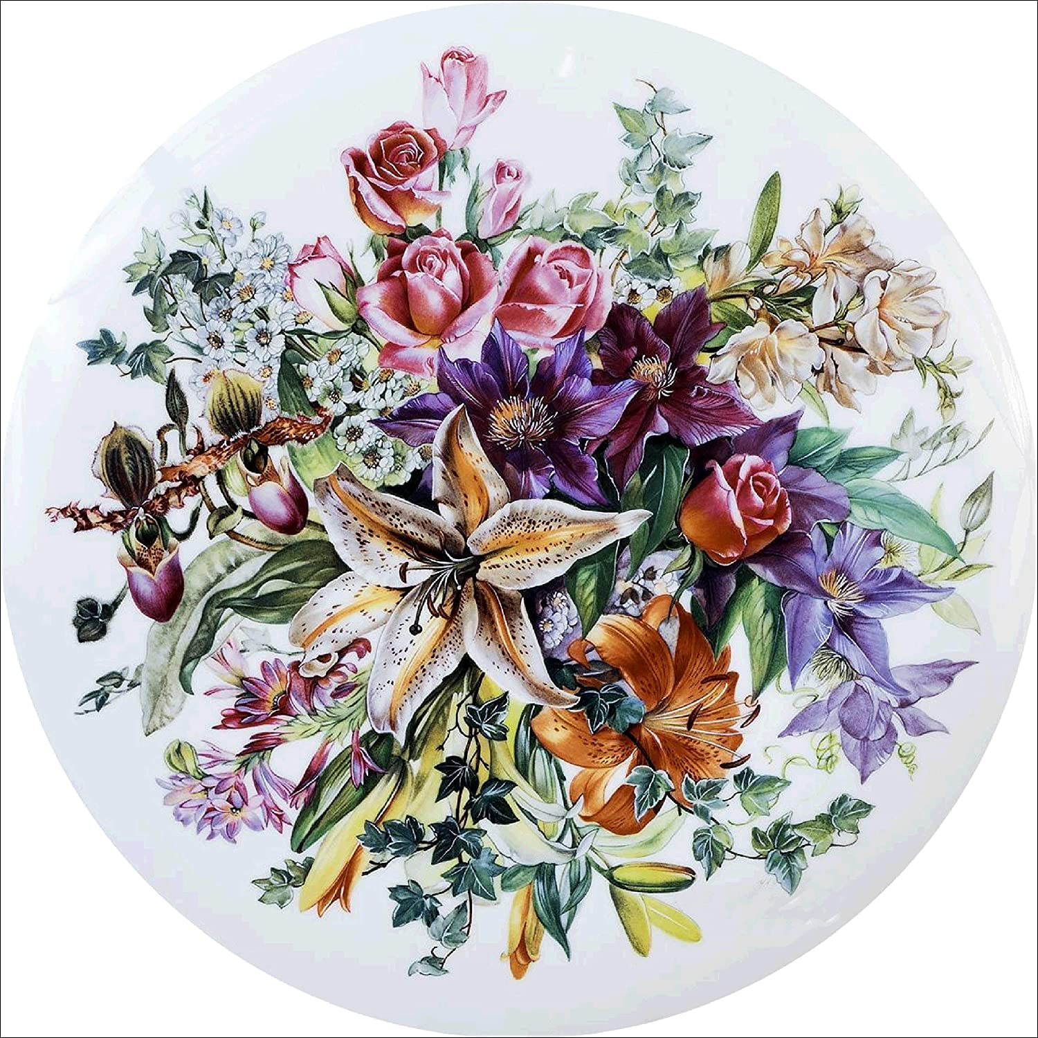 5D Diamond Painting Kit Flowers Full Drill Rhinestone Embroidery Cross Stitch Arts Crafts Diamond Paint by Numbers for Kids Adults Home Wall Decor 11.8/×11.8inch