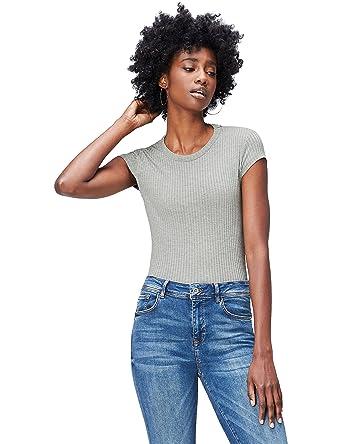 e992f3177a5ee7 find. Damen T-Shirt mit rundem Ausschnitt  Amazon.de  Bekleidung