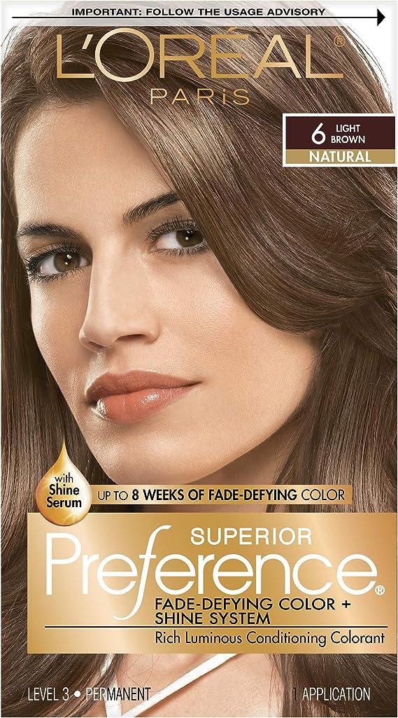 LOreal Paris Superior Preference Hair Color, 6 Light Brown by LOreal Paris