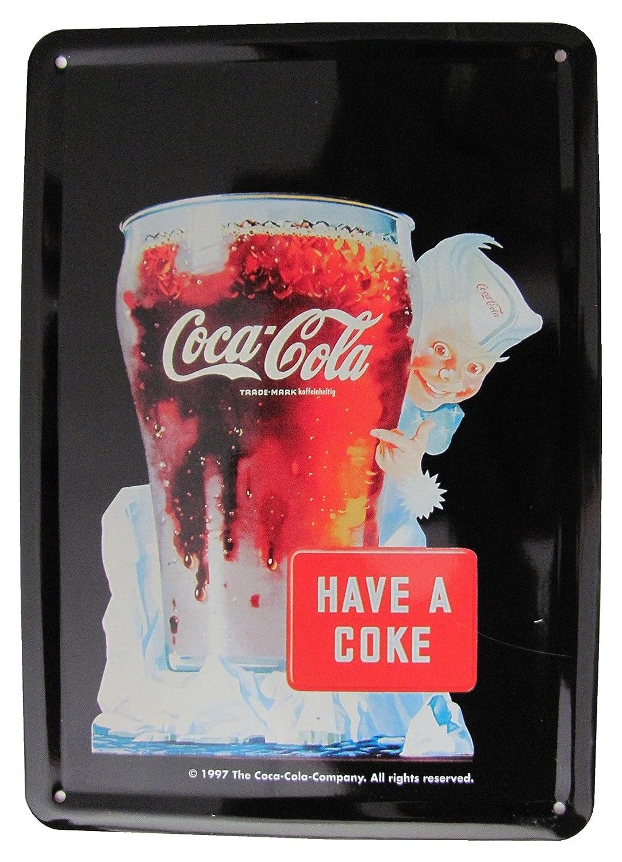 Coca Cola - HAVE A Coca Cola - Cartel de chapa 14,5 x 10 cm ...