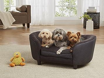 Cama de diseño de WohnDirect para perros grandes y gatos. Con cojines blandos y bolsillo