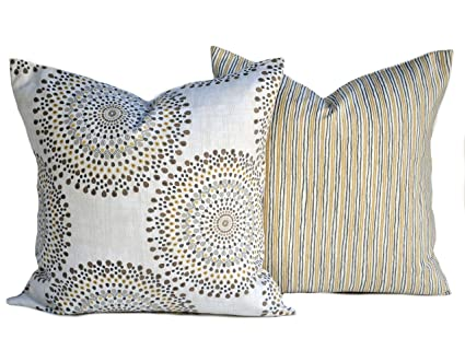 Amazoncom Two Magnolia Pillow Covers Slate Grey Pillow Cushion