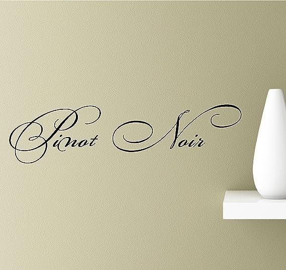Pinot grigio cursive Grauburgunder Vitis vinifera France Burgundy Vinyl Wall Art Inspirational Quotes Decal Sticker