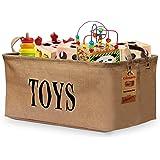 "Gimars 20"" Jute Storage Basket Bin Chest Organizer - Perfect for Organizing Toy Storage, Baby Toys, Kids Toys, Dog Toys, Baby Clothing, Children Books, Gift Baskets"
