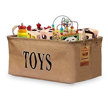 Gimars 20u0026quot; Jute Storage Basket Bin Chest Organizer - Perfect for Organizing Toy Storage  sc 1 st  Amazon UK & Gimars 20