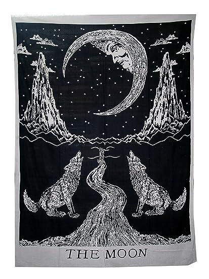 Raajsee Indischer Wandbehang Baumwolle Schwarz Und Weiß