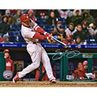 "$48 » Scott Kingery Philadelphia Phillies Autographed 8"" x 10"" Hitting Photograph - Fanatics Authentic Certified"