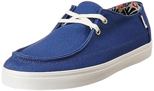 f7af0e0be24 Vans Men s Rata Vulc Sf Stv Navy and Tropical Havana Sneakers - 6 UK India