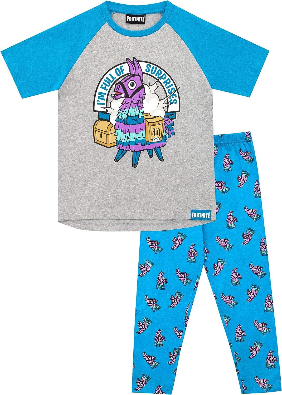 Fortnite Pijamas de Manga Corta para niños Llama: Amazon.es: Ropa y accesorios
