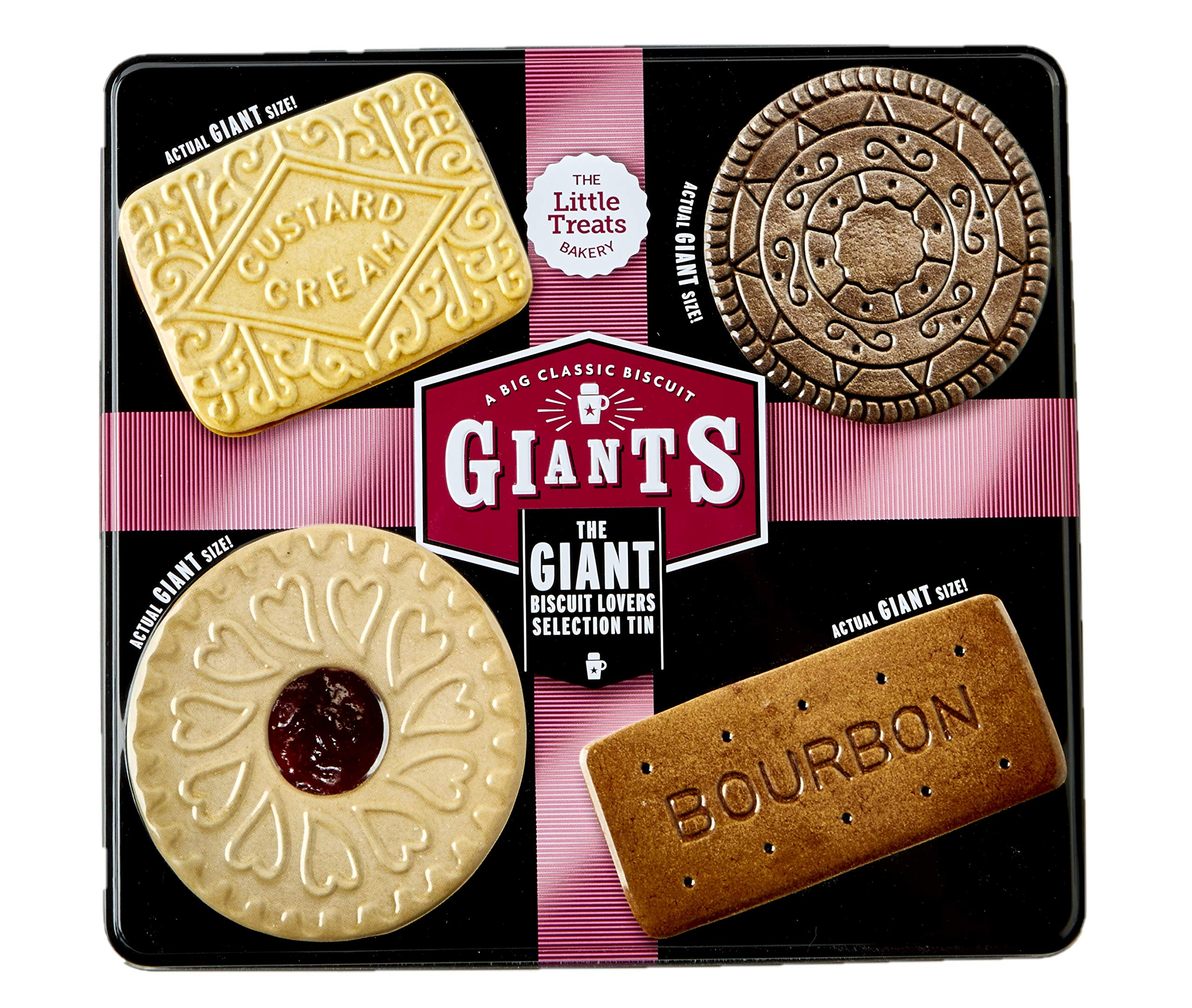 GIANTS Selection TIN - Classic Biscuits Giant Sized (Bourbon, Custard Cream, Jammy Sandwich, Cookies and Cream)