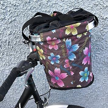 Palanca de apertura rápida bicicleta plegable cesta Bolsa De Compras flores TEMPORADAS