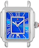 Michele Womens Deco Madison Cobalt Diamond Dial Stainless Steel