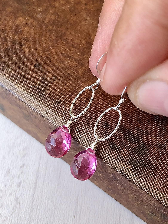 Christmas Gift Handmade silver Jewelry Earring Silver Earrings Gemstone Earrings Tourmaline Earring for Women Wedding Earring