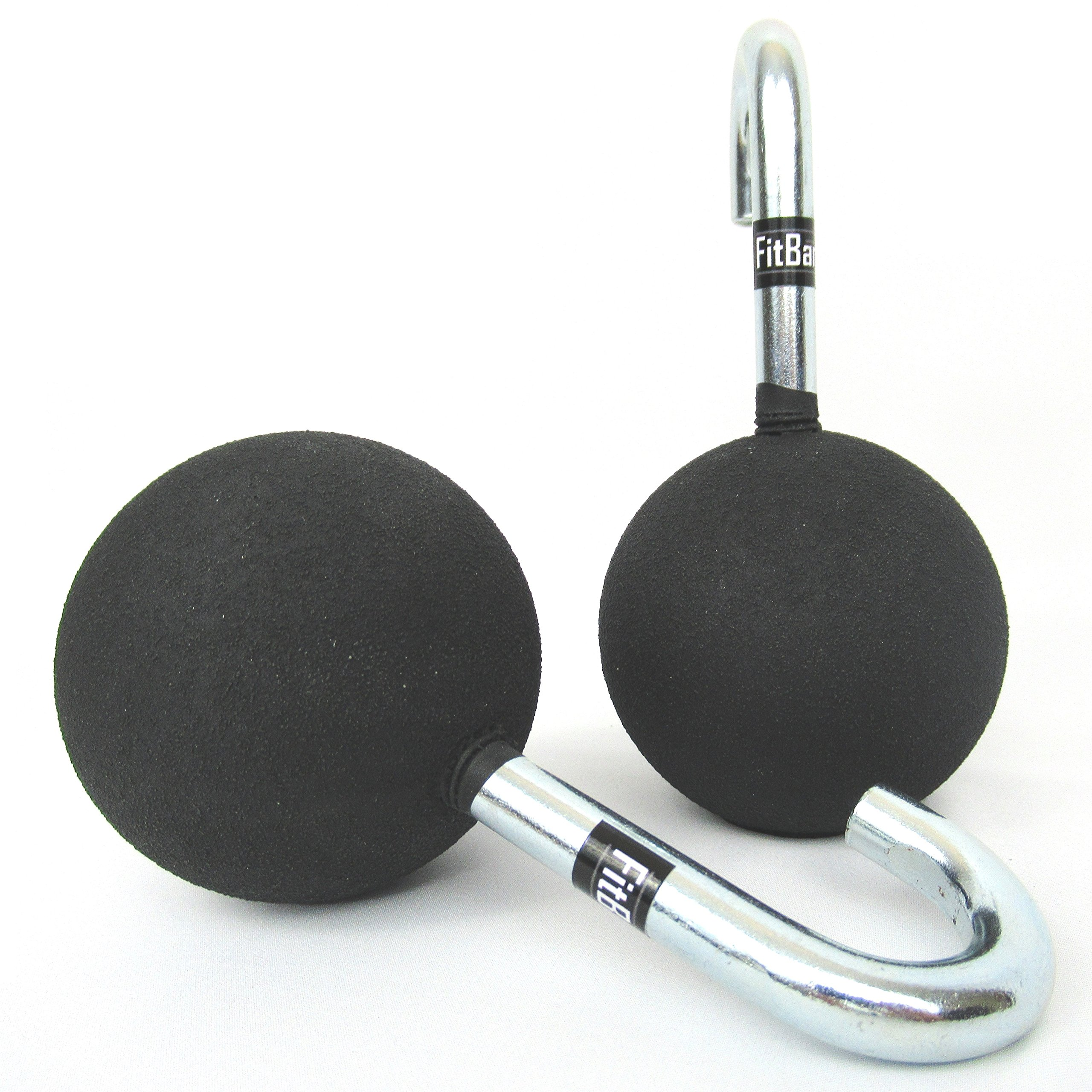 "FitBar Ball Grips | Cannonball Grips | Attaches to any 1"" Diameter Pull Up Bar 
