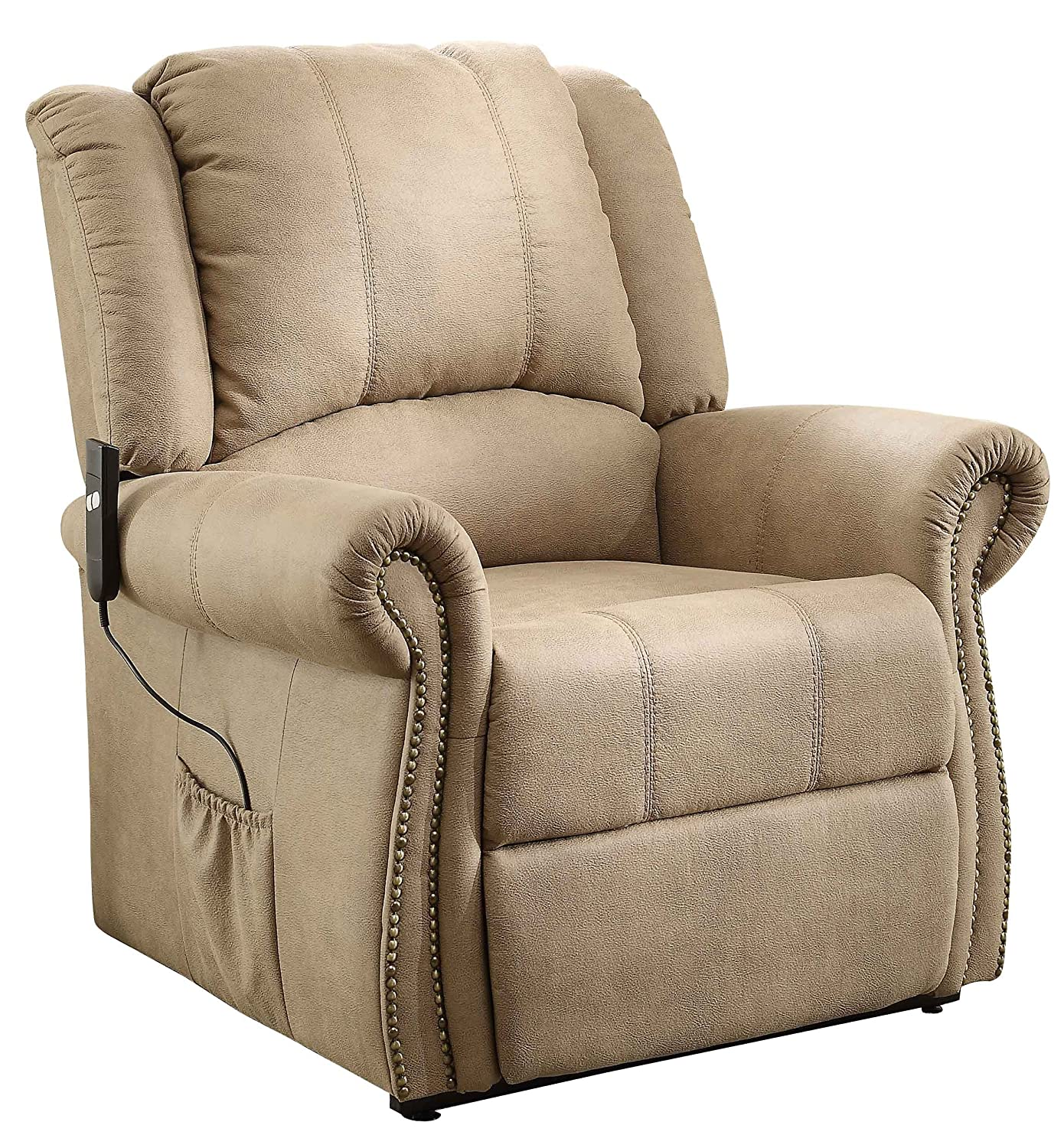 Amazon Homelegance 8437 1LT Power Lift Chair Tufted Plush