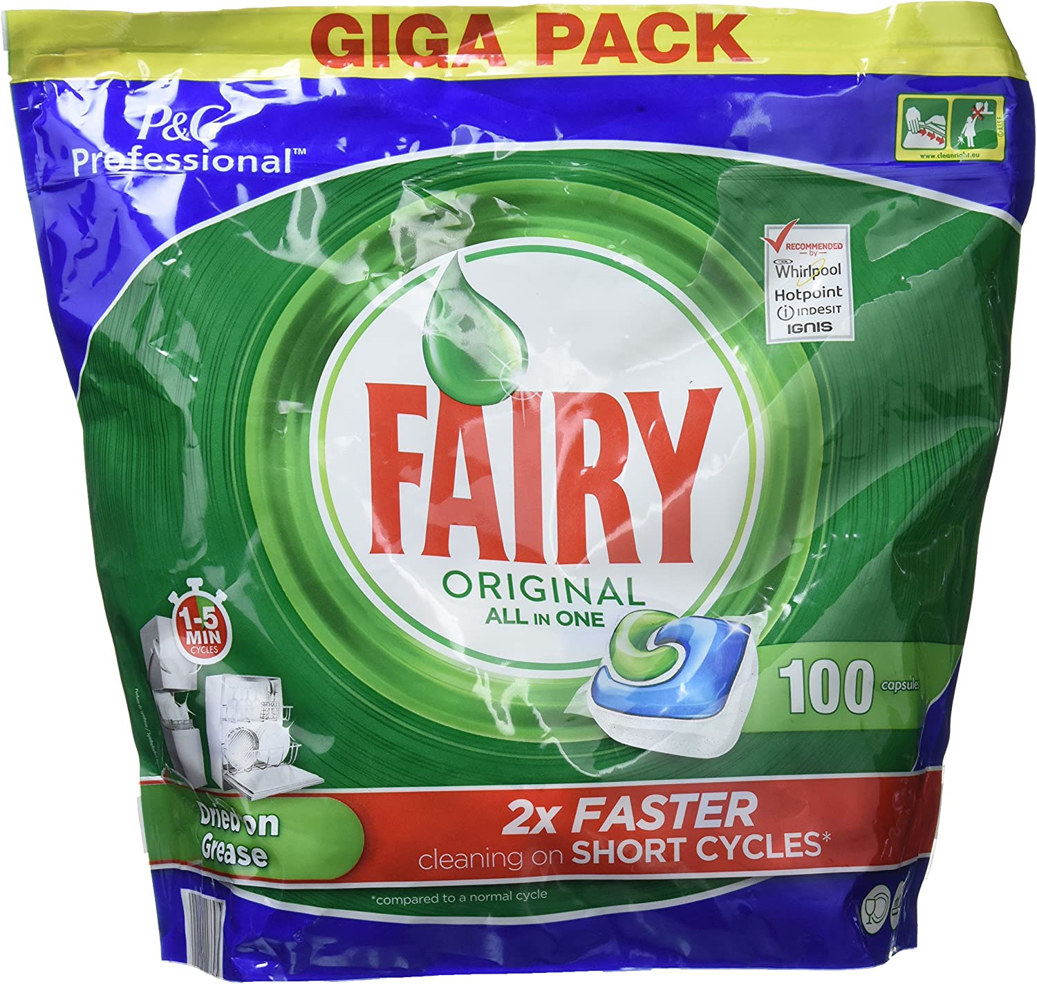 100 FAIRY ORIGINAL ALL in 1 DISHWASHER CAPSULES