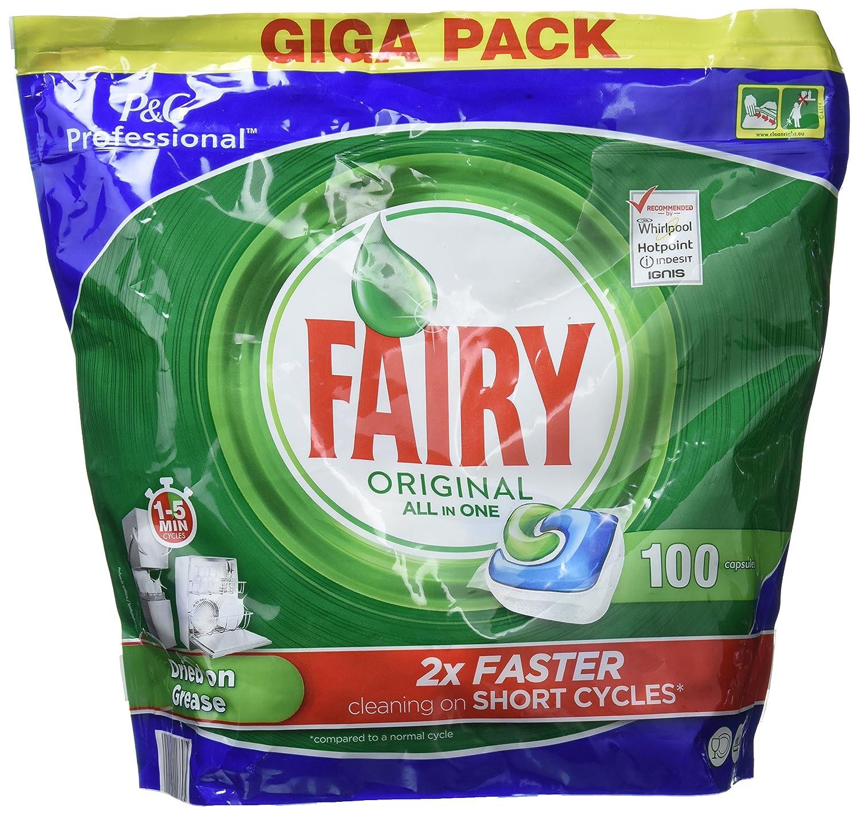 Fairy Original Alles in einem Objektivdeckel für Spülmaschine, Limette 125 Wäschen 125 Pezzi Procter & Gamble 81654354
