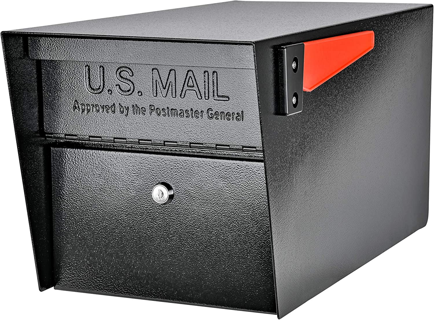 NEW Black Mail Boss 7506 Mail Manager Steel Curbside Locking Security Mailbox