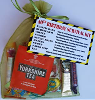 40th Birthday Survival Gift Kit Fun Happy Present For