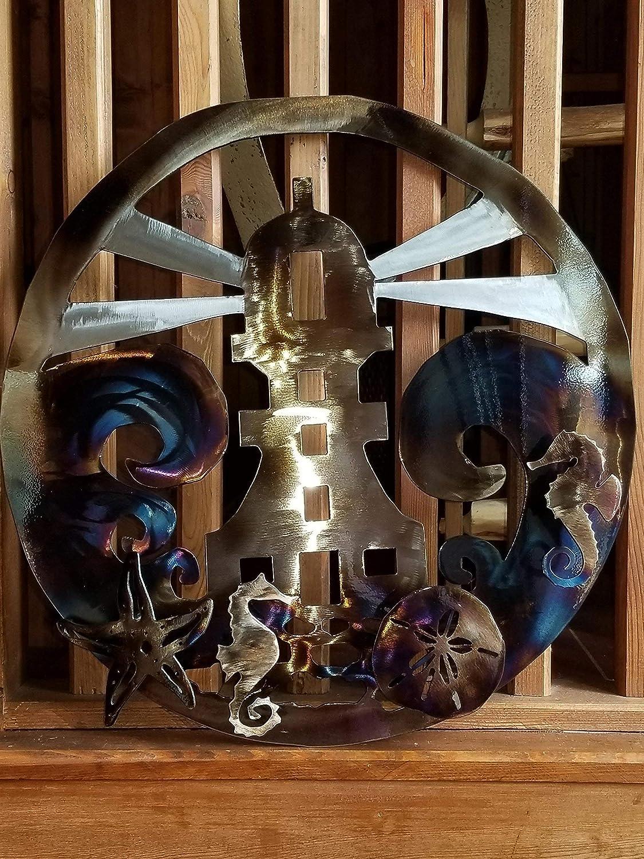 Amazon Com Lighthouse Metal Art 14 Ga Steel 21 Diameter