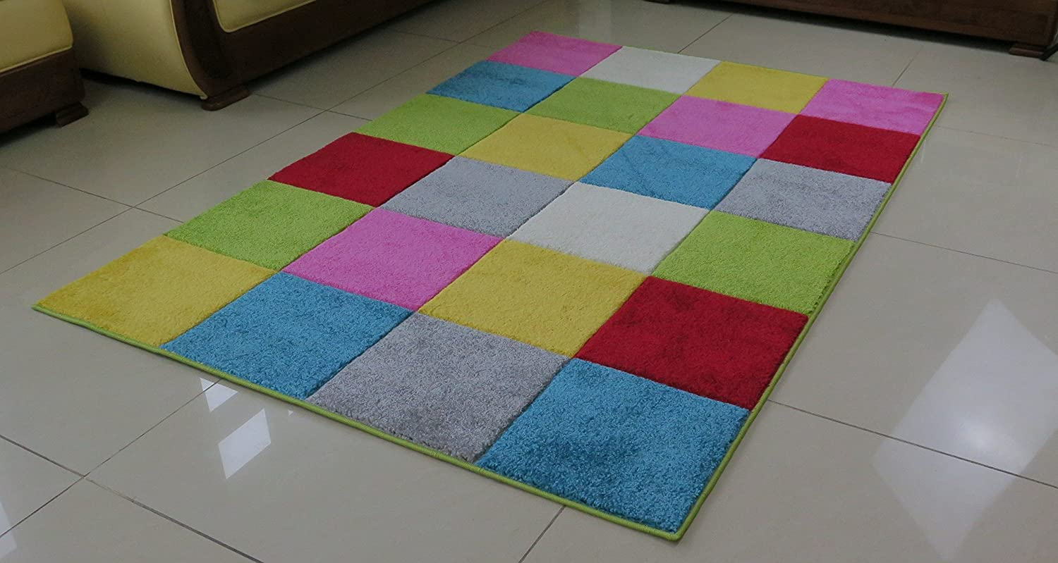 ASPECT Checked Rug, Polyester, Multi-Colour, 80 x 150 cm RUG184/150