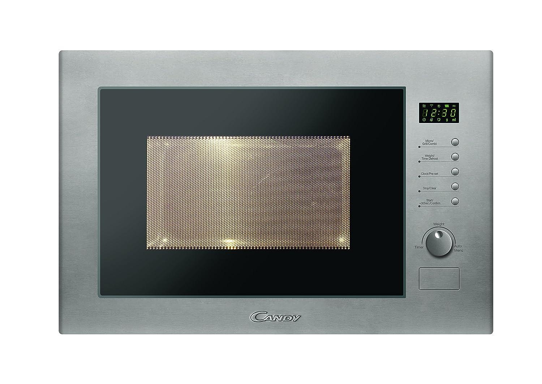 Candy MIC25GDFX - Microondas de encastre con grill, 25 L, 900 W / 1000 W, color gris: 177.87: Amazon.es: Hogar
